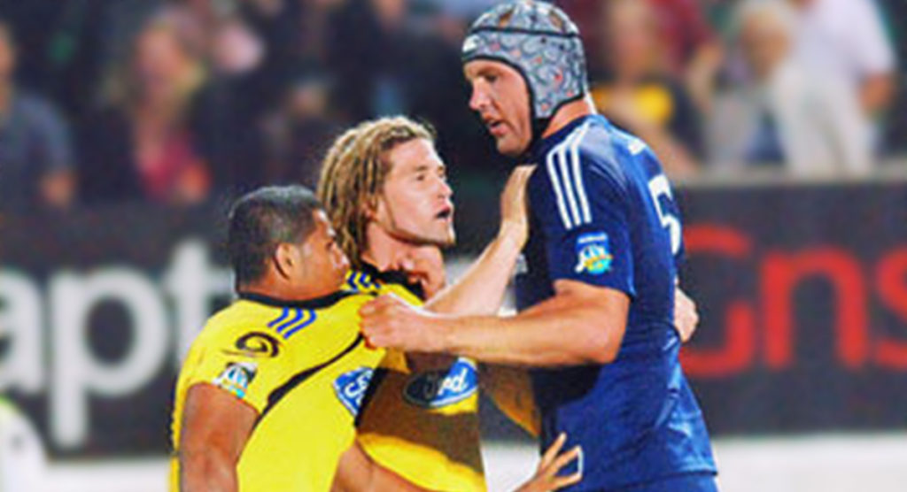 Andries Bekker tells the little ones to settle down