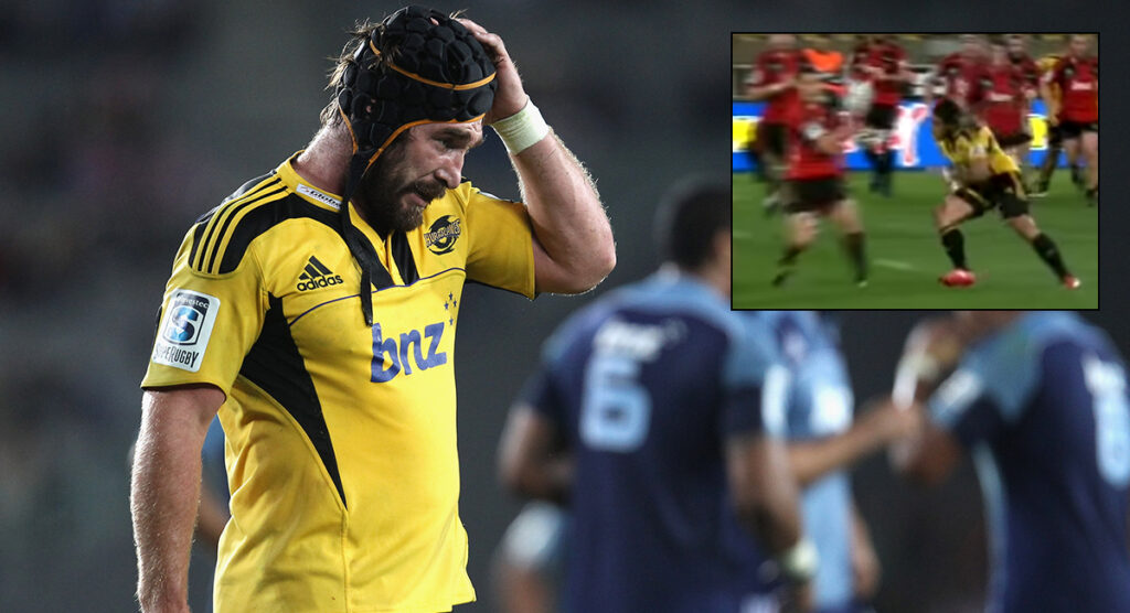 Andrew Hore asks if they're actually allowed to tackle Dan Carter