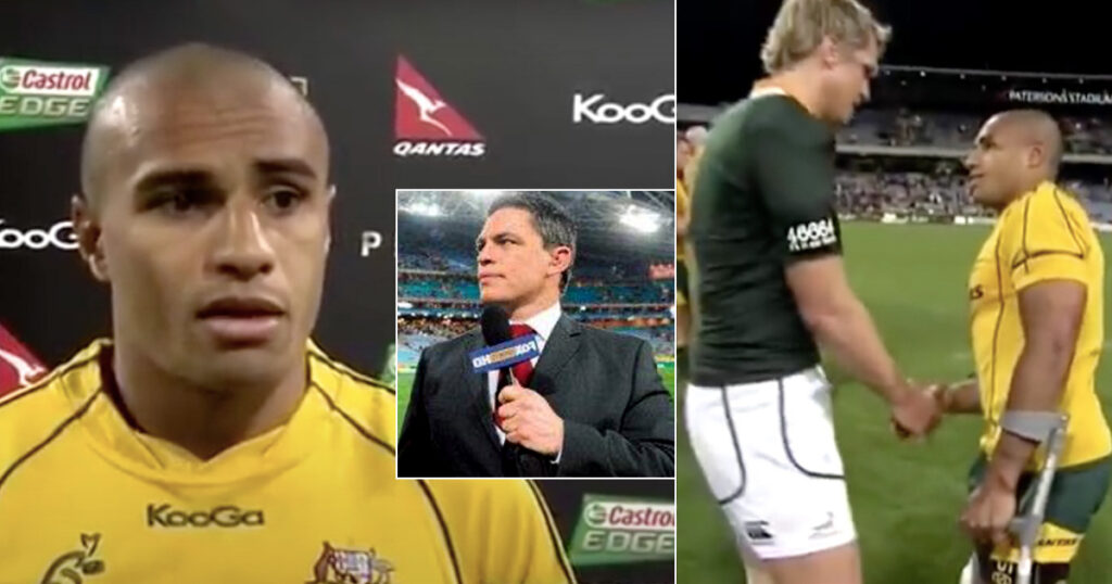 Will Genia's awkward post-match interview after injuring his knee