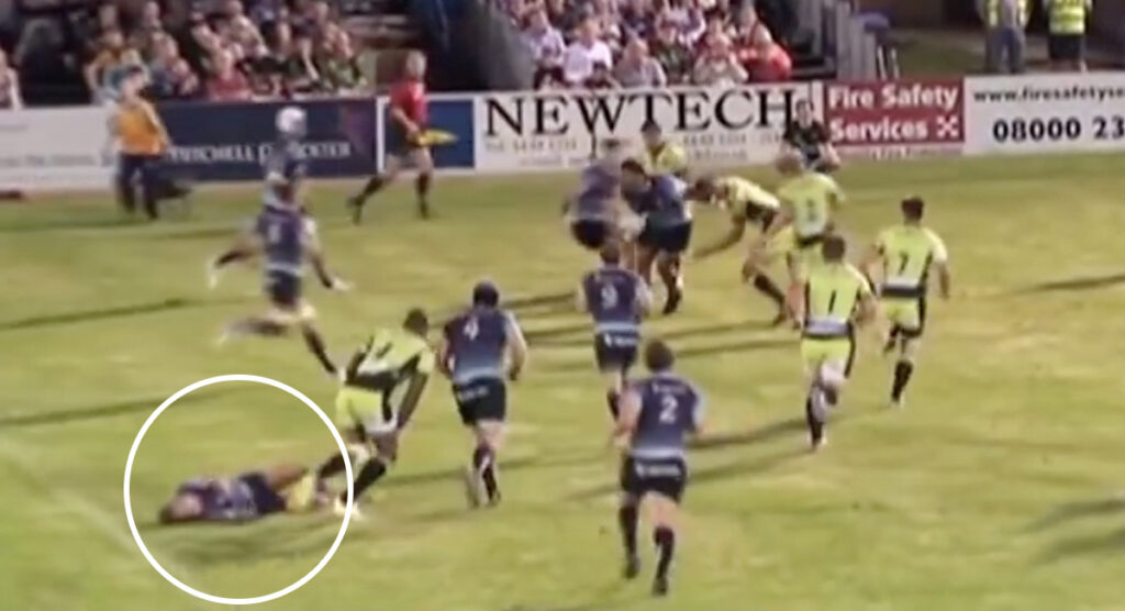 Courtney Lawes' devastating hit on hapless debutant in pre-season game vs Bedford Blues