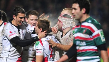 Ulster power through Leicester Tigers in front of a packed Ravenhill