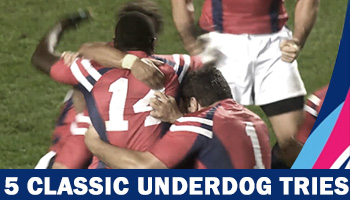 Five classic underdog tries at the Rugby World Cup