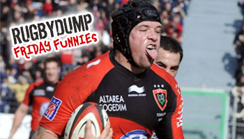 Friday Funnies - Joe Van Niekerk scores with a vertical leap try