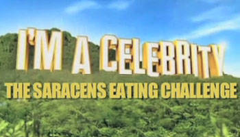McFly's Dougie Poynter takes on Saracens' Schalk Brits in eating challenge