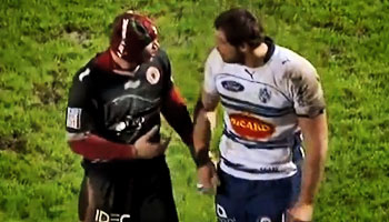 Fight Night in France - Agen vs Biarritz mass brawl