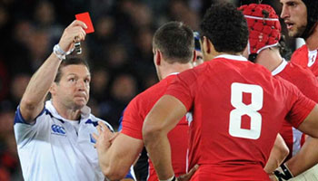 Sam Warburton red card in Rugby World Cup Semi Final