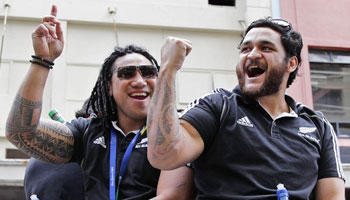 All Blacks victory parade in Auckland with TCGW