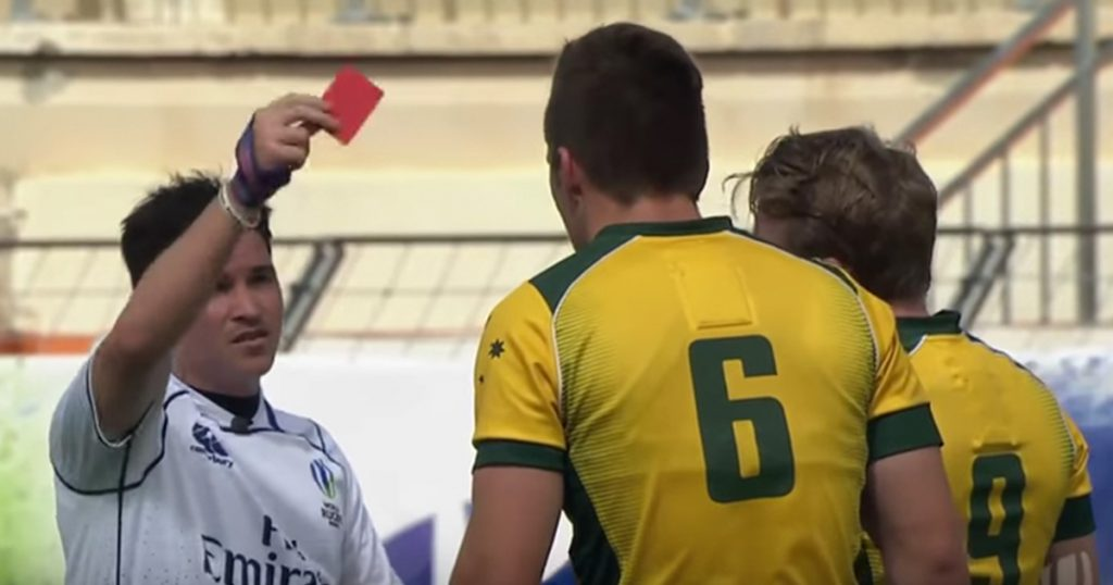 Australian U20 Red Card shows exactly why this ruck law was brought in