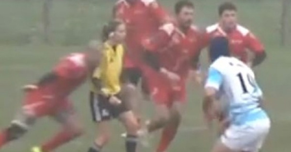 Player banned after filthy off the ball tackle on female referee