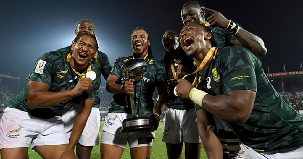 South Africa victorious after vicious high tackle in Dubai Sevens final