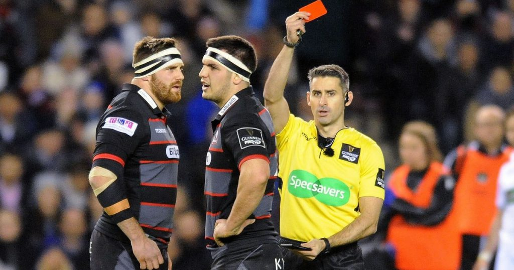 Edinburgh's Simon Berghan sent off for head stamp in 1872 Cup first leg