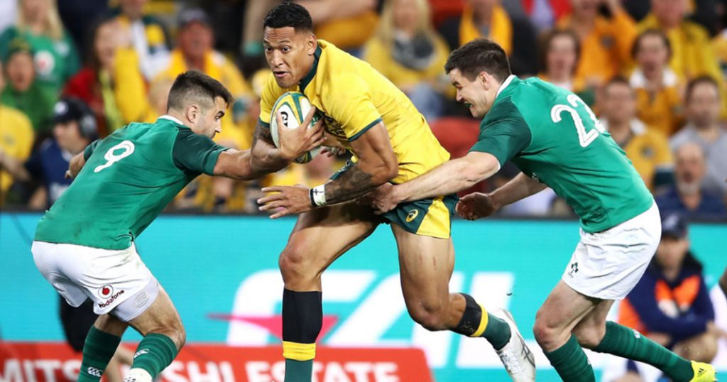 Israel Folau try disallowed after TMO spots foul play a few phases back