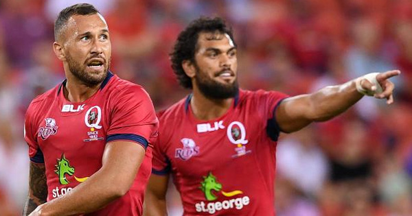 Karmichael Hunt and Samu Kerevi Mic'd up for Reds