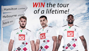 WIN the rugby tour of a lifetime with IG and Harlequins