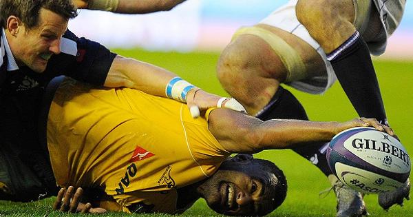 Kuridrani scores late try as Australia break Scotland hearts again