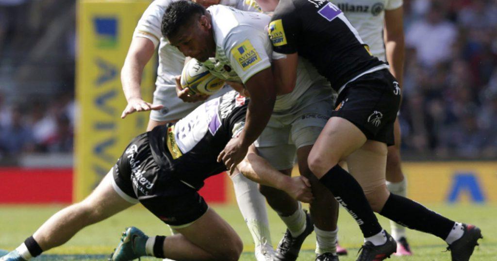 Mako Vunipola smashes Alec Hepburn as Saracens win Premiership final