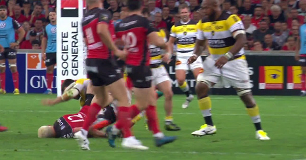 Pierre Aguillon sees red for nasty tackle on James O'Connor