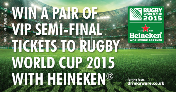 Win a Pair of VIP Semi-Final Tickets to RWC2015 with Heineken