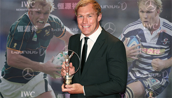 Schalk Burger awarded Comeback of the Year at the 2015 Laureus Awards