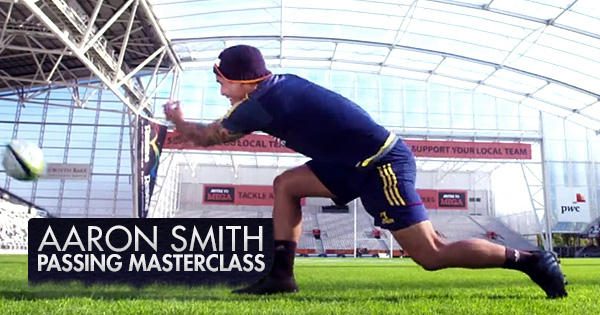 Passing tips from the world's best scrumhalf, Aaron Smith
