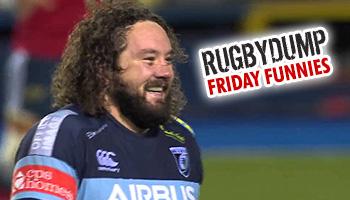 Friday Funnies - Prop Adam Jones' audacious drop goal attempt