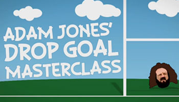Friday Funnies - Prop Adam Jones' drop goal masterclass