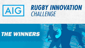 Winners of the AIG Rugby Innovation Challenge