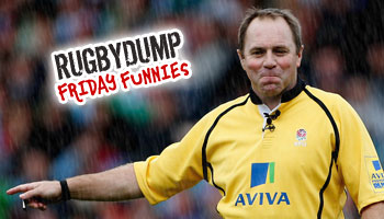 Friday Funnies - Charged down ball hits referee Andrew Small in the face