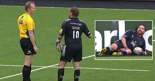 Andy Goode's funny interactions with referee Wayne Barnes