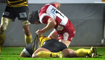 Gloucester's Andy Hazell sees red following alleged eye-gouge