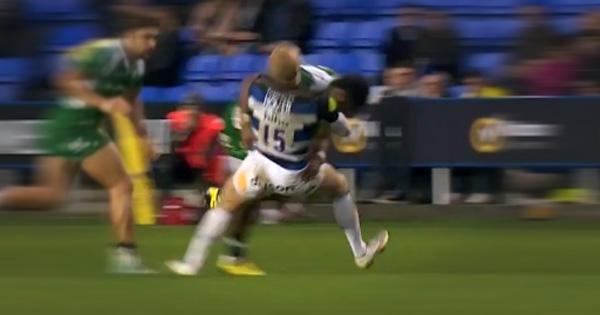 Asaeli Tikoirotuma's huge hit on Tom Homer in the Premiership