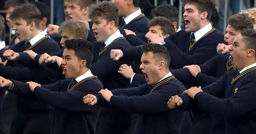 Incredible mass Haka challenge from Auckland schools in annual derby clash