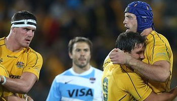 Wallabies avoid defeat with come from behind win over Argentina