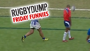 Friday Funnies - Clearing kick lands directly on touchjudge's head