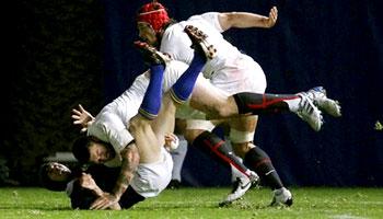 Matt Banahan's tip tackle on Berrick Barnes