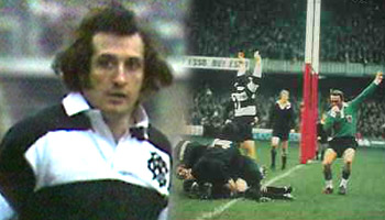Gareth Edwards' great try for the Barbarians in 1973
