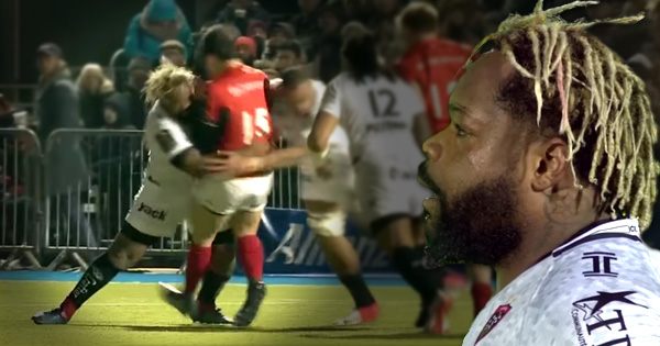 Mathieu Bastareaud smashes Alex Lozowski with MONSTER hit