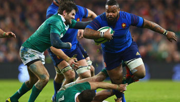 Mathieu Bastareaud's physical impact on the 2015 Six Nations so far