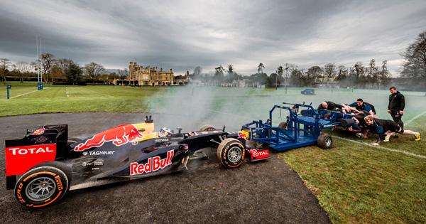 Midweek Madness - Bath's forward pack take on a Formula 1 car