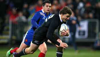 Beauden Barrett wins IRPA Try of the Year 2013 for try against France