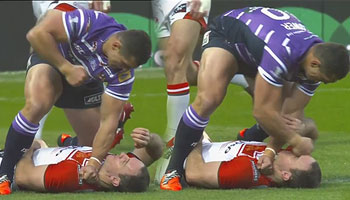Ben Flower red carded for vicious punching at start of Super League Grand Final
