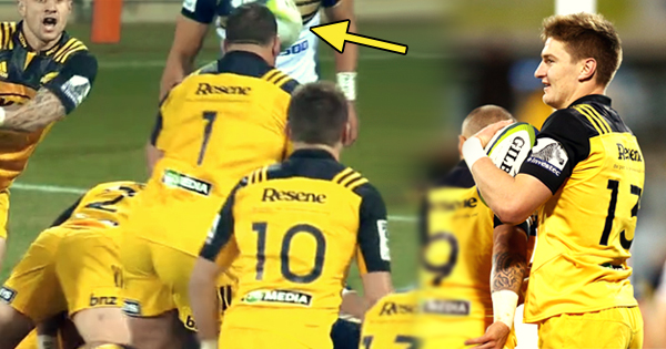 Classic Falcon results in another freakish try for Jordie Barrett