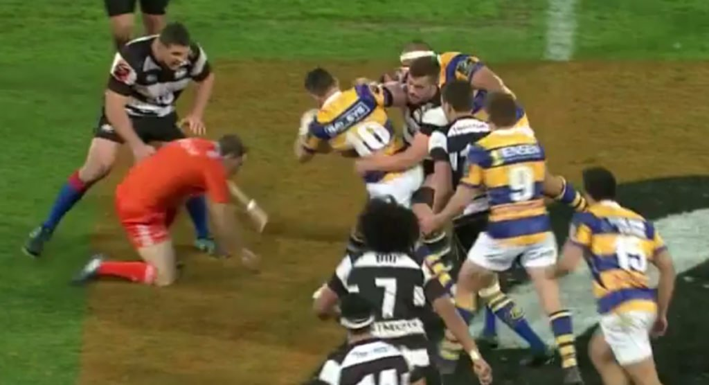 A look at Ben May's referee push that was dismissed as not deliberate