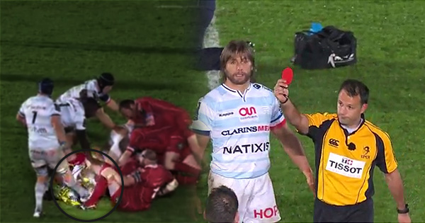 Bernard Le Roux shown straight red card for petulant stamp