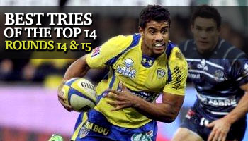 Best Tries of the Top 14 - Rounds 14 and 15