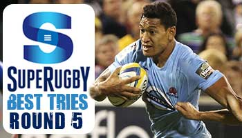 The Best Tries scored in Round 5 of Super Rugby 2014