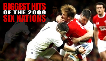 Biggest hits of the 2009 Six Nations