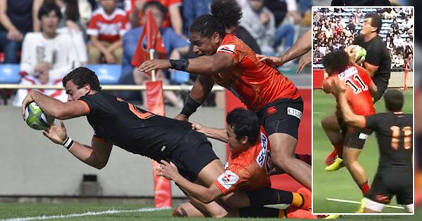 Jaguares' Emiliano Boffelli shows brilliant aerial skills against the Sunwolves