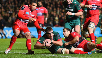 Leicester Tigers beat European champions Toulon at Welford Road