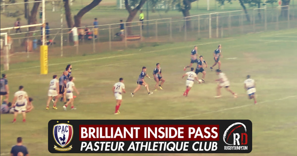 Brazilian players create a try that their neighbours would be proud of